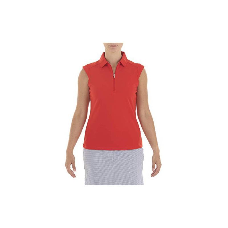 Nivo Golf Polo sin Mangas Mujer Nikki, RojoRopa de Mujer