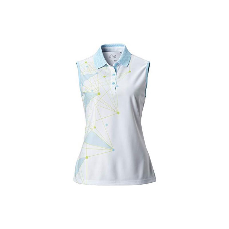 Nivo Golf, Polo sin Mangas de Mujer Genna, BlancoRopa de Mujer