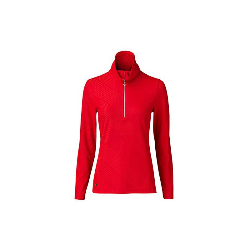 Daily Sports, Floy Half Neck - Camiseta de Manga Larga, Mujer Golf RojoInicio