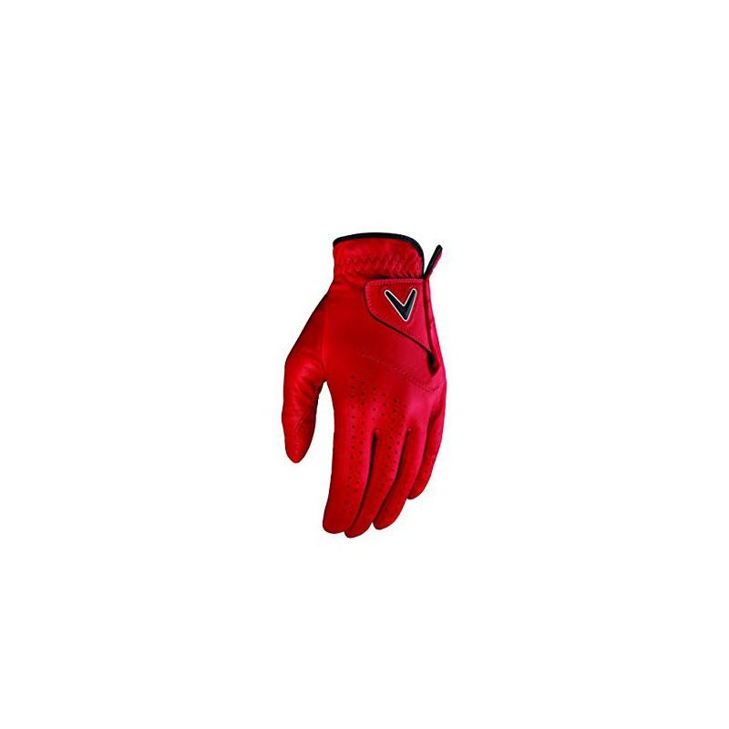 Callaway Golf OPTI-Color Guante de Golf, Hombre, RojoGuantes Hombre