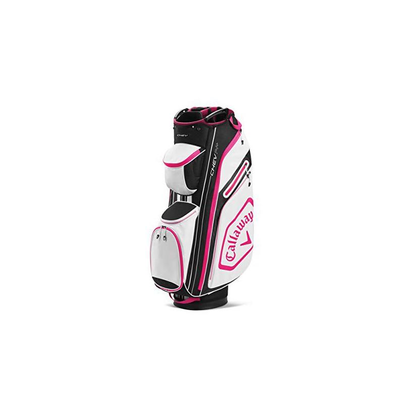 Callaway Golf Chev 14+ Bolsa de Golf Blanco/Negro/RosaBolsas Golf Cart