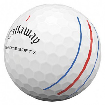 Callaway Chrome Soft X Triple Track, Bolas de Golf Blancas (12 Bolas)Bolas Golf