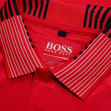 Boss, Pauletch Pro SL Polo, Hombre, Slim Fit, RojoRopa de Caballero
