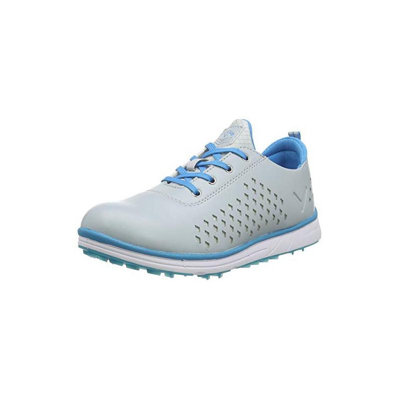 CALLAWAY HALO Diamond, Zapatos de Golf Mujer, Gris/AzulZapatos Golf Mujer