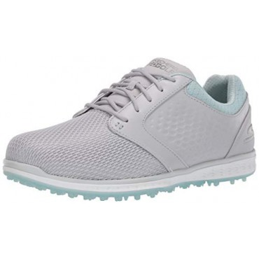 Skechers Women's Go Elite 3 Grand Relaxed Fit Spikeless Waterproof, Zapato de Golf, Gris/MentaZapatos Golf Mujer