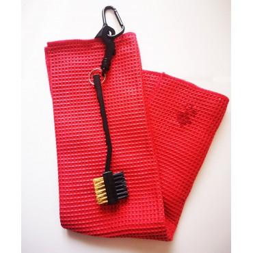 BGSP - Regalo Golf | Toalla Microfibra + Cepillo Negro para Golf con Gancho para Bolsa (Roja)Inicio