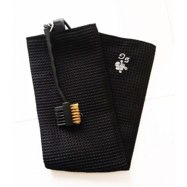 BGSP - Regalo Golf | Toalla Microfibra + Cepillo Negro para Golf con Gancho para Bolsa (Negra)Inicio