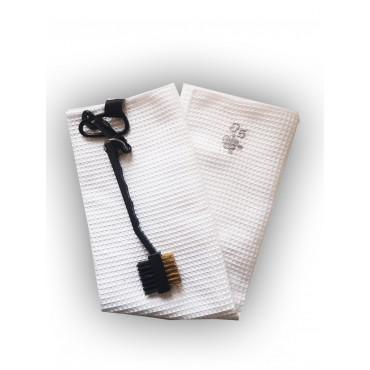 BGSP - Regalo Golf | Toalla Microfibra + Cepillo Negro para Golf con Gancho para Bolsa (Blanca)Inicio