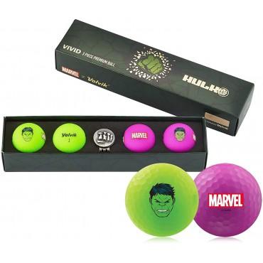 Bolas de Golf Volvik Vivid By Marvel - Set de Regalo (Hulk)Bolas Golf