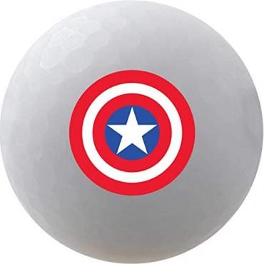 Bolas de Golf Volvik Vivid By Marvel - Set de Regalo (Capitán America)Ideas para regalar