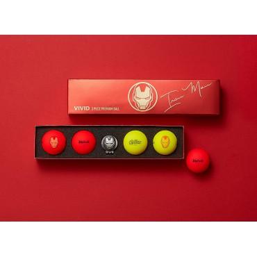 Bolas de Golf Volvik Vivid By Marvel - Set de Regalo (Iron Man)Ideas para regalar