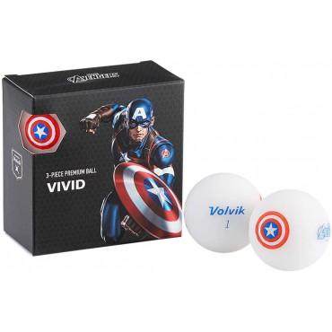 Juego de 4 bolas Volvik Vivid By Marvel - Set de Regalo (Capitán América)Ideas para regalar