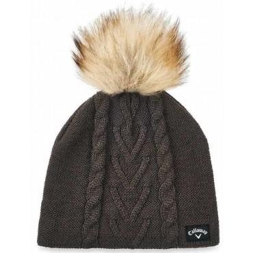 Callaway Gorro de Punto para Mujer CharcoalGorros de lana