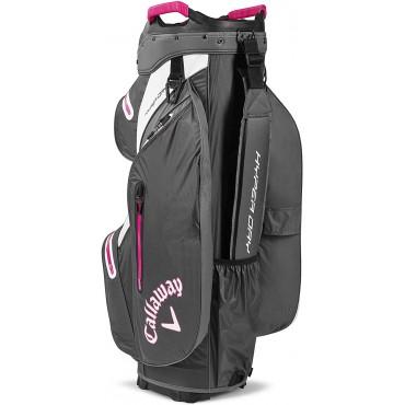 Callaway Hyper Dry 15 Cart Bag Bolsa Carbone/Rosa, UnisexBolsas Golf Cart