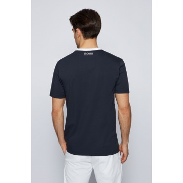 BOSS Camiseta en punto de algodón elástico de la colección The Open 2021Ropa de Caballero