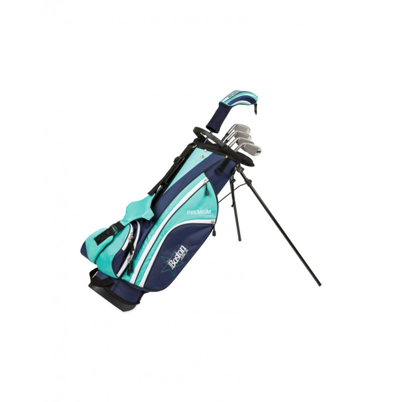 BOSTON JUNIOR SET PREMIUM 1/2 SERIE (BOLSA + 6 PALOS) - TEENAGER AZULSet Completos Golf Junior