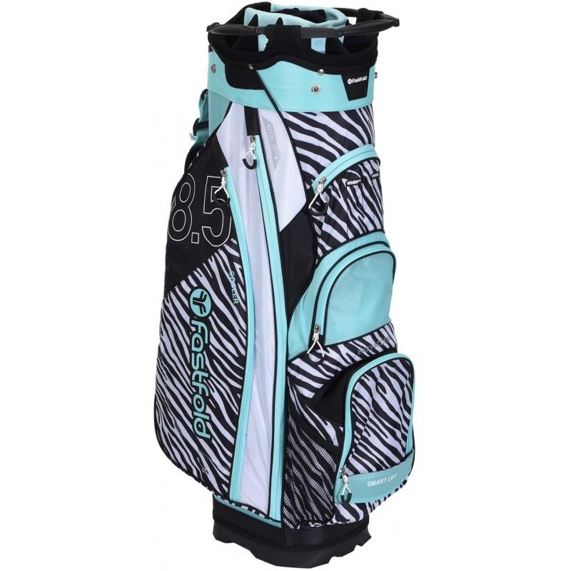 Fast Fold Cart Bag Animal Print - Mint/White/BlackBolsas Golf Cart