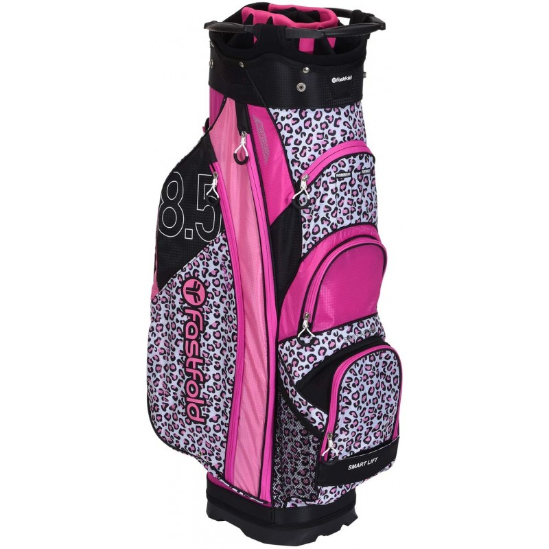 Fast Fold Cart Bag Animal Print - Pink/White/BlackBolsas Golf Cart