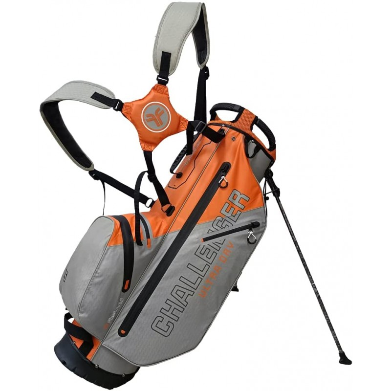 Fast Fold Challenger Ultra Dry Bag gris/naranjaBolsas Golf Stand (trípode)