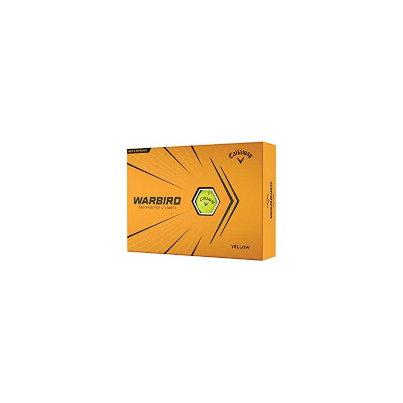 Callaway Bolas de golf Warbird amarillas 2021Bolas Golf