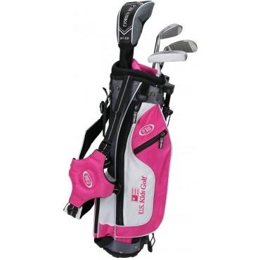 US KIDS ULTRALIGHT SET US45 Pink/White/Grey (BOLSA + 4 PALOS)Set Completos Golf Junior