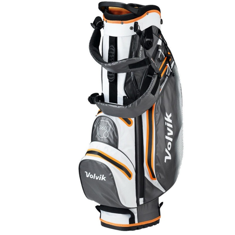 Volvik WP360 Bolsa Stand blanco/gris/naranjaBolsas Golf Cart