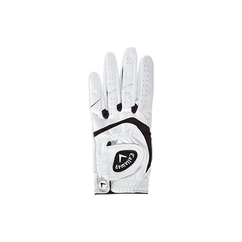 Callaway CG GL Syntech - Guantes de Golf para Mujer, Color Blanco, Talla L