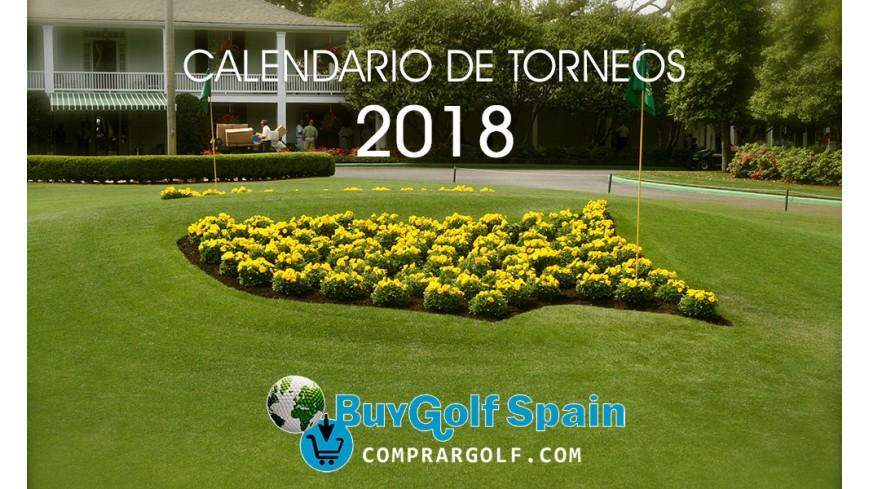 Calendario de torneos de golf 2018