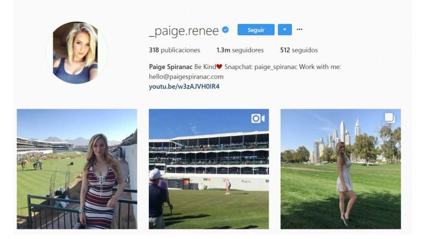 Golfistas en Instagram
